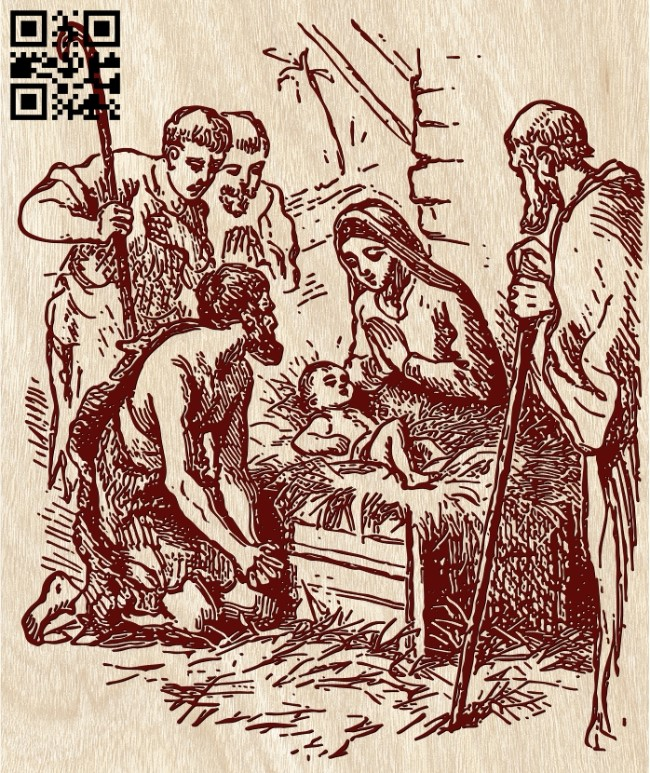 Holy family E0012142 file cdr and dxf free vector download for laser engraving machines