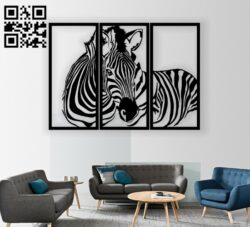 Zebra panel E0012223 file cdr and dxf free vector download for laser cut plasma