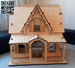 House E0012197 file cdr and dxf free vector download for laser cut