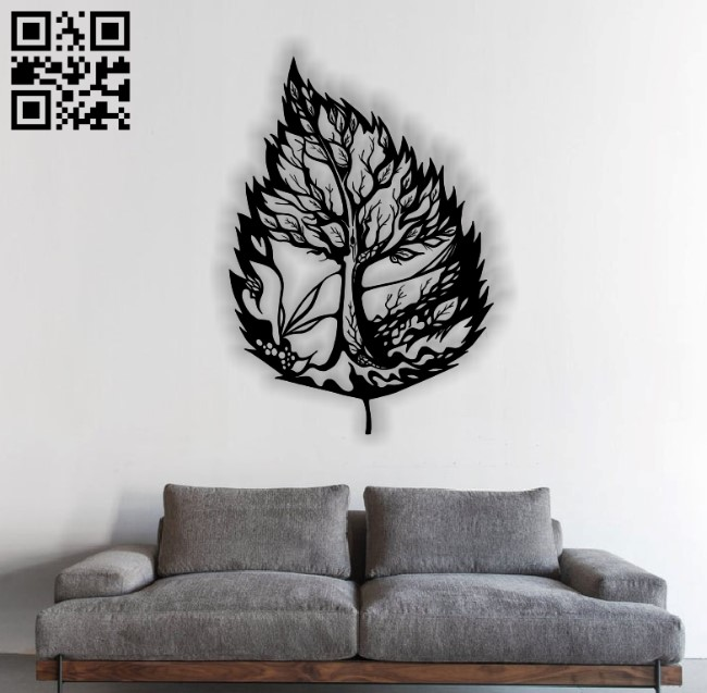 Leaf E0012221 file cdr and dxf free vector download for laser cut plasma
