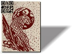 Leopard on a tree E0012096 file cdr and dxf free vector download for laser engraving machines