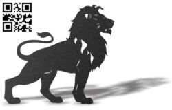 Lion E0012166 file cdr and dxf free vector download for laser cut plasma