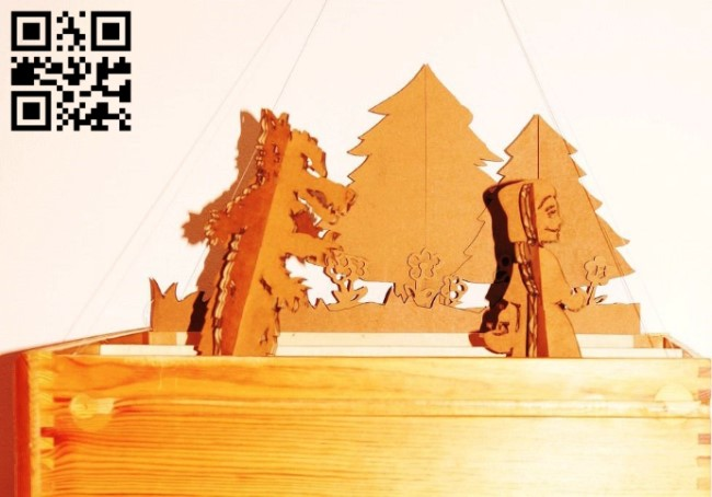 Little Red Riding Hood E0012071 file cdr and dxf free vector download for laser cut