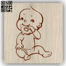 Lovely baby E0012033 file cdr and dxf free vector download for laser engraving machines