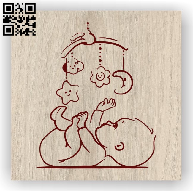 Lovely baby with toys E0012030 file cdr and dxf free vector download for laser engraving machines