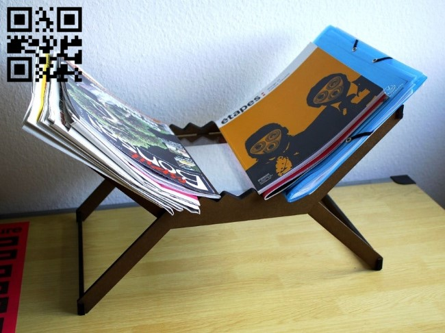 Magazine rack E0011966 file cdr and dxf free vector download for Laser cut