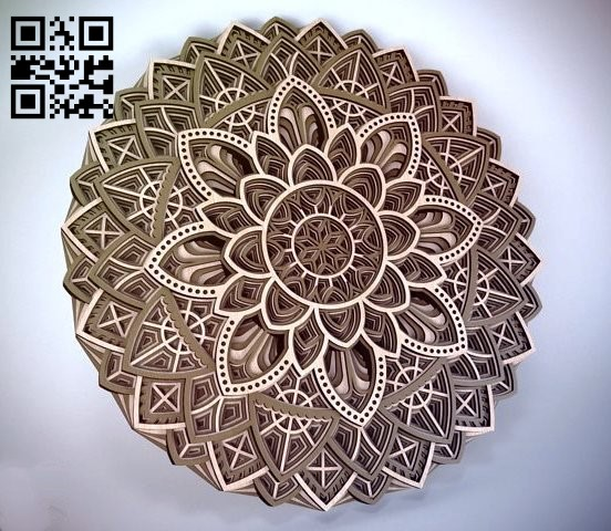 Multilayer Mandala E0012229 file cdr and dxf free vector download for laser cut