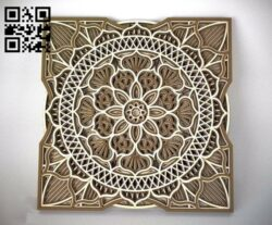 Multilayer flower Mandala E0012228 file cdr and dxf free vector download for laser cut