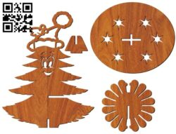 Napkin holder Christmas tree E0012106 file cdr and dxf free vector download for laser cut