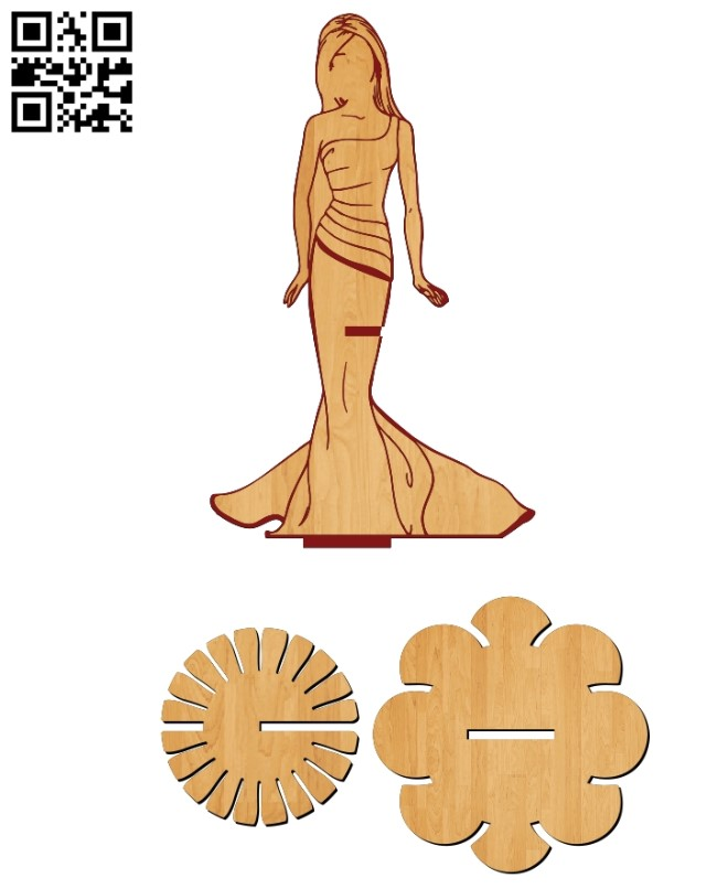 Napkin holder E0012107 file cdr and dxf free vector download for laser cut
