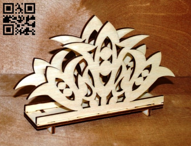 Napkin holder E0012122 file cdr and dxf free vector download for laser cut