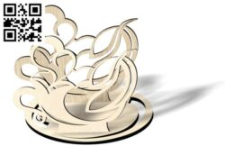 Napkin holder E0012180 file cdr and dxf free vector download for laser cut