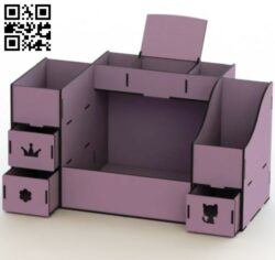 Organizer E0012203 file cdr and dxf free vector download for laser cut