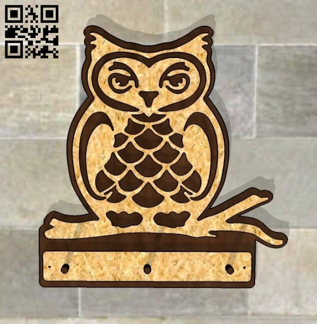 Owl hanger E0012034 file cdr and dxf free vector download for laser cut