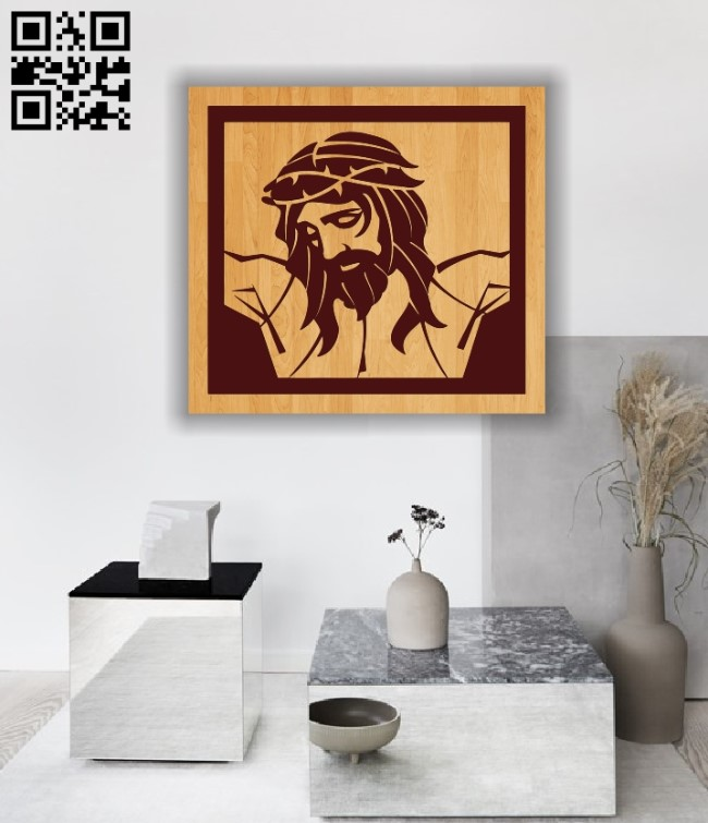Painting of Jesus E0011999 file cdr and dxf free vector download for laser engraving machines
