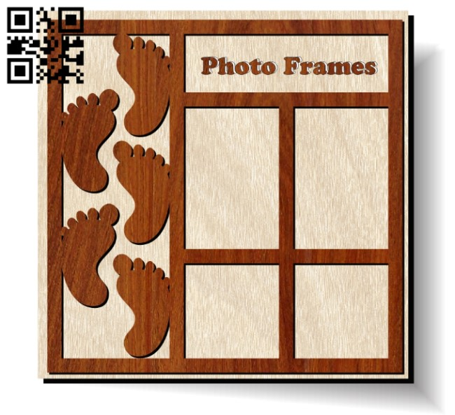 Photo frames E0012042 file cdr and dxf free vector download for laser cut