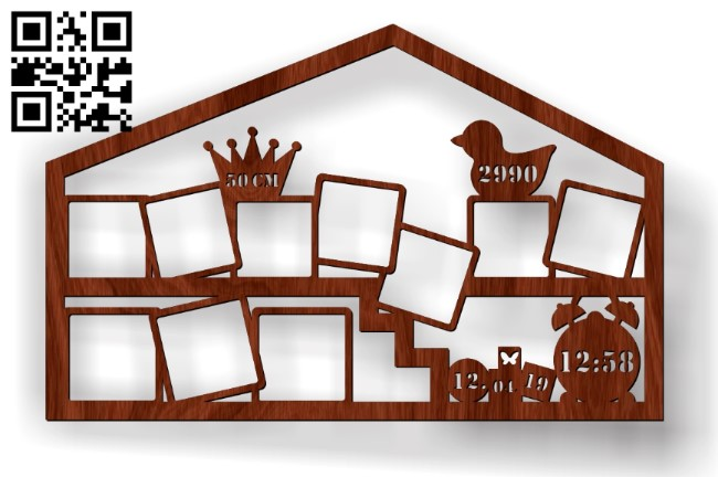Photo frames E0012053 file cdr and dxf free vector download for laser cut
