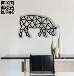 Pig E0012189 file cdr and dxf free vector download for laser cut plasma