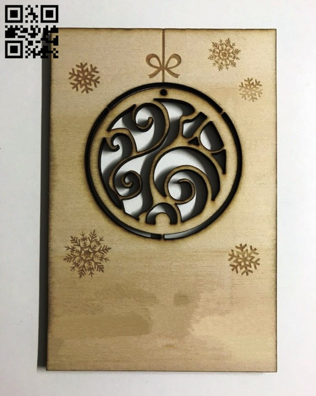 Postcard E0012006 file cdr and dxf free vector download for laser cut