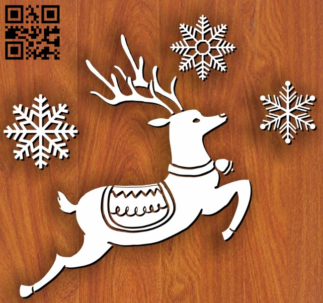 Reindeer E0012002 file cdr and dxf free vector download for laser cut