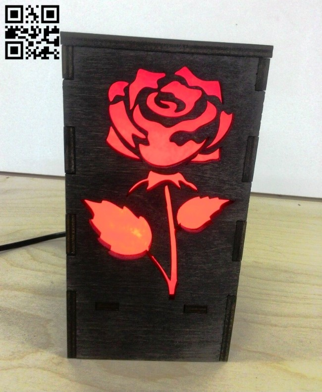 Rose light E0011975 file cdr and dxf free vector download for laser cut