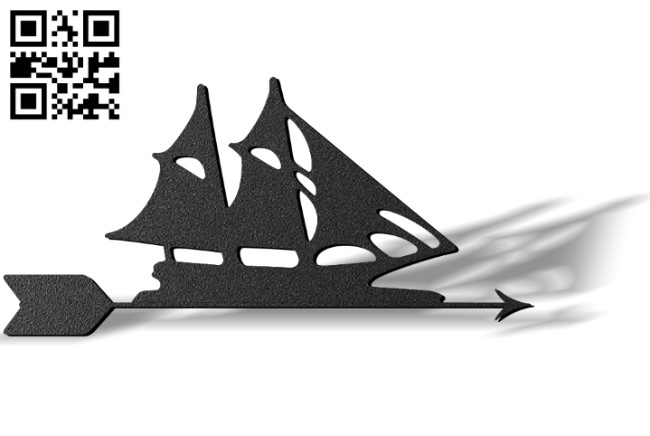 Sailboat weather wind vane E0012110 file cdr and dxf free vector download for laser cut plasma