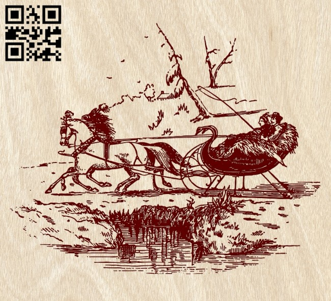 Sleigh E0012144 file cdr and dxf free vector download for laser engraving machines