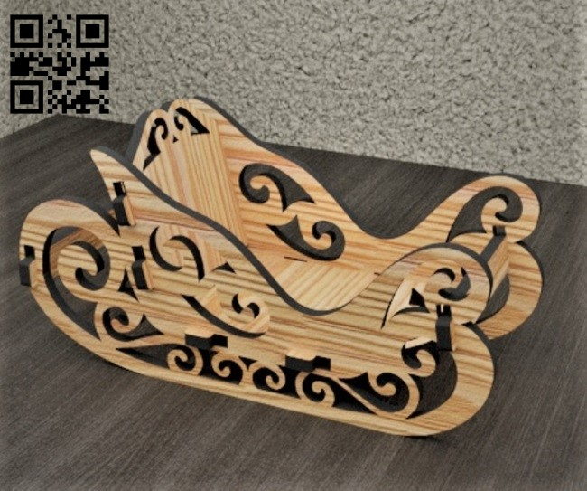 Sleigh E0012236 file cdr and dxf free vector download for laser cut