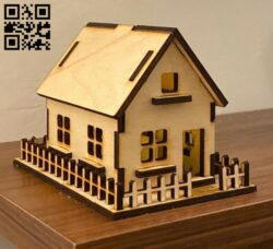Small house E0012151 file cdr and dxf free vector download for laser cut