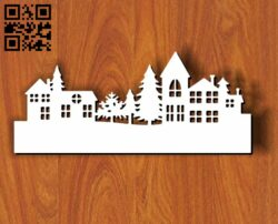 Small houses E0012127 file cdr and dxf free vector download for laser cut plasma