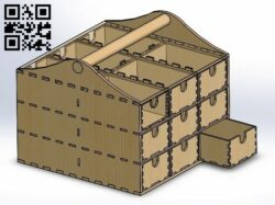 Small items box E0012066 file cdr and dxf free vector download for laser cut