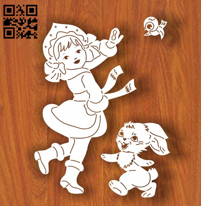 Snow Maiden E0012241file cdr and dxf free vector download for laser engraving machines