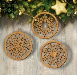 Snowflakes E0012008 file cdr and dxf free vector download for laser cut