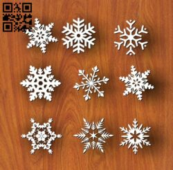 Snowflakes E0012043 file cdr and dxf free vector download for laser cut