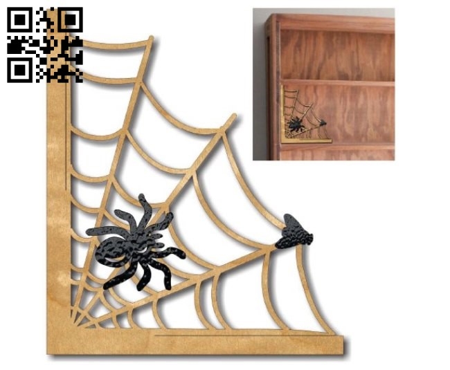 Spider halloween E0012068 file cdr and dxf free vector download for laser cut