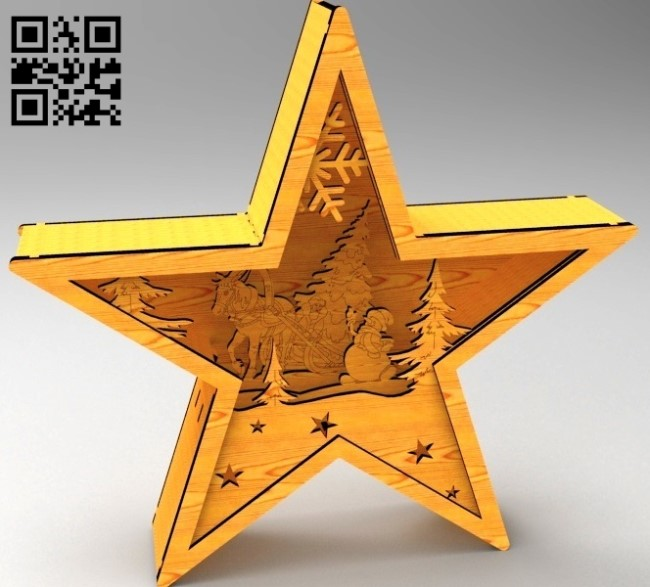 Star light E0012237 file cdr and dxf free vector download for laser cut