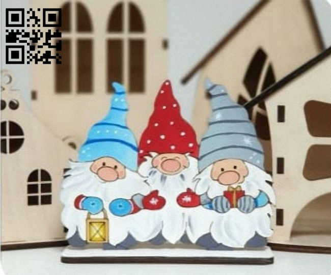 Three dwarfs E0012238 file cdr and dxf free vector download for laser cut