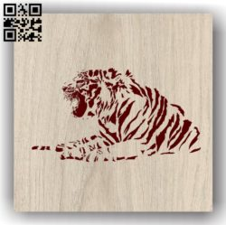 Tiger E0011984 file cdr and dxf free vector download for laser engraving machines