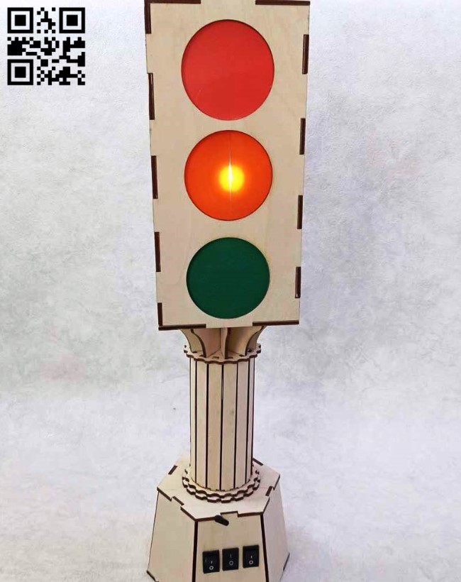 Traffic light E0012175 file cdr and dxf free vector download for laser cut