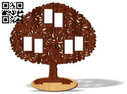Tree photo frames E0012086 file cdr and dxf free vector download for laser cut