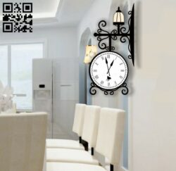 Wall clock E0012041 file cdr and dxf free vector download for laser cut