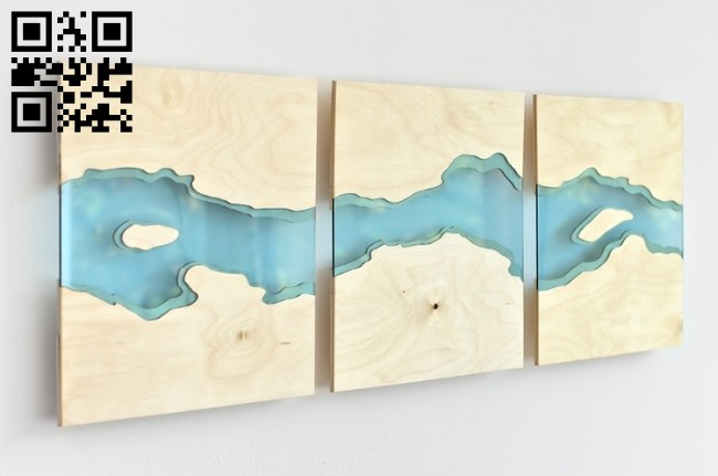 Wall river E0012146 file cdr and dxf free vector download for laser cut