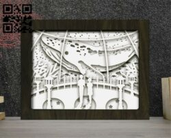Whale light box E0012231file cdr and dxf free vector download for laser cut