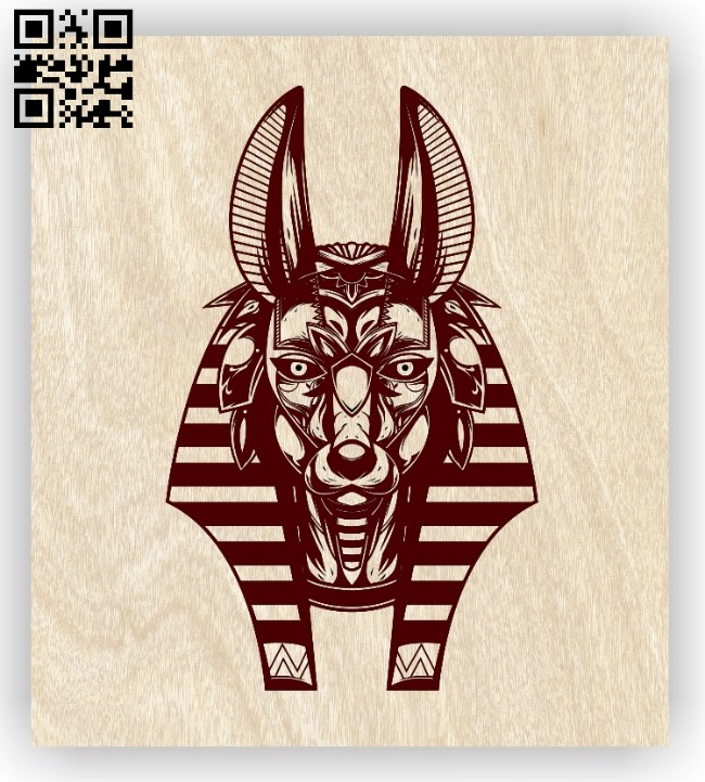Anubis E0012466 file cdr and dxf free vector download for laser engraving machines