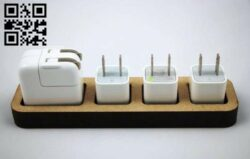 Apple Charger Dock E0012534 file cdr and dxf free rvector download for laser cut
