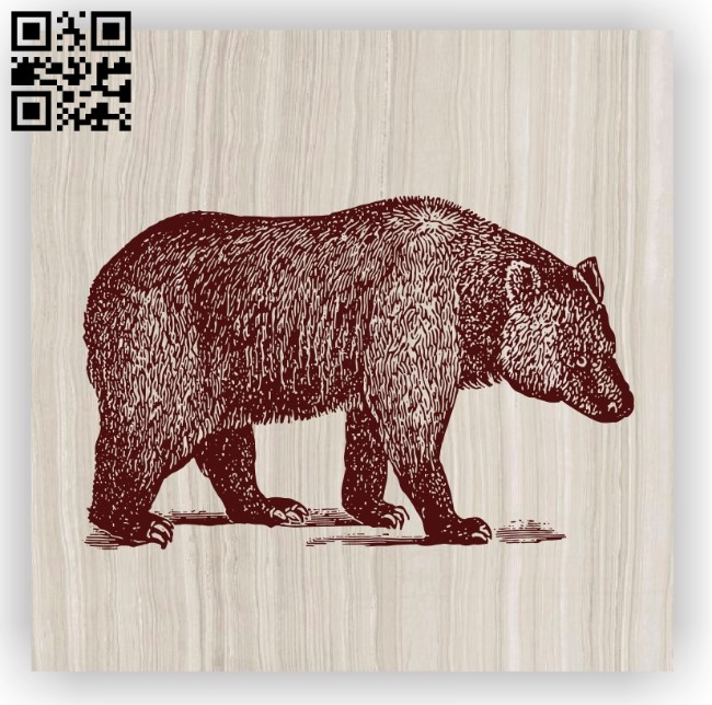 Bear E0012370 file cdr and dxf free vector download for laser engraving machines