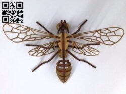 Bee puzzle E0012348 file cdr and dxf free vector download for laser cut