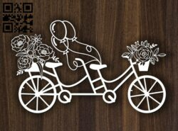 Bicycle E0012510 file cdr and dxf free vector download for laser cut
