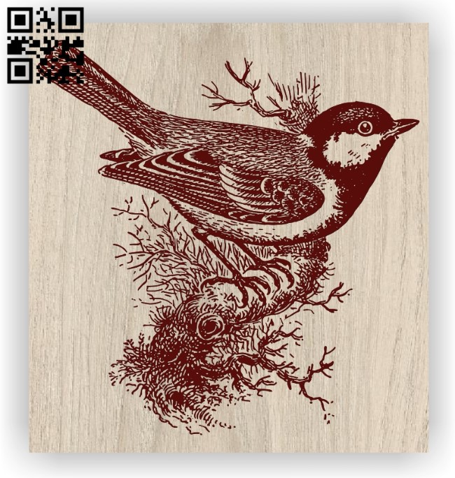 Bird E0012471 file cdr and dxf free vector download for laser engraving machines