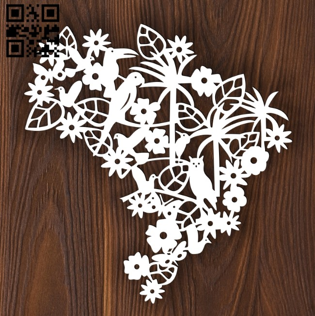 Birds E0012468 file cdr and dxf free vector download for laser cut